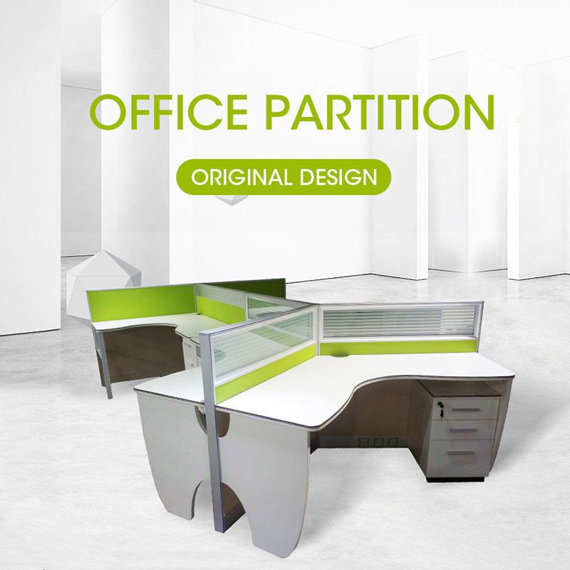 Gcon Modern StyleOfficeWorkstationDesk with Screen Partition JM3040
