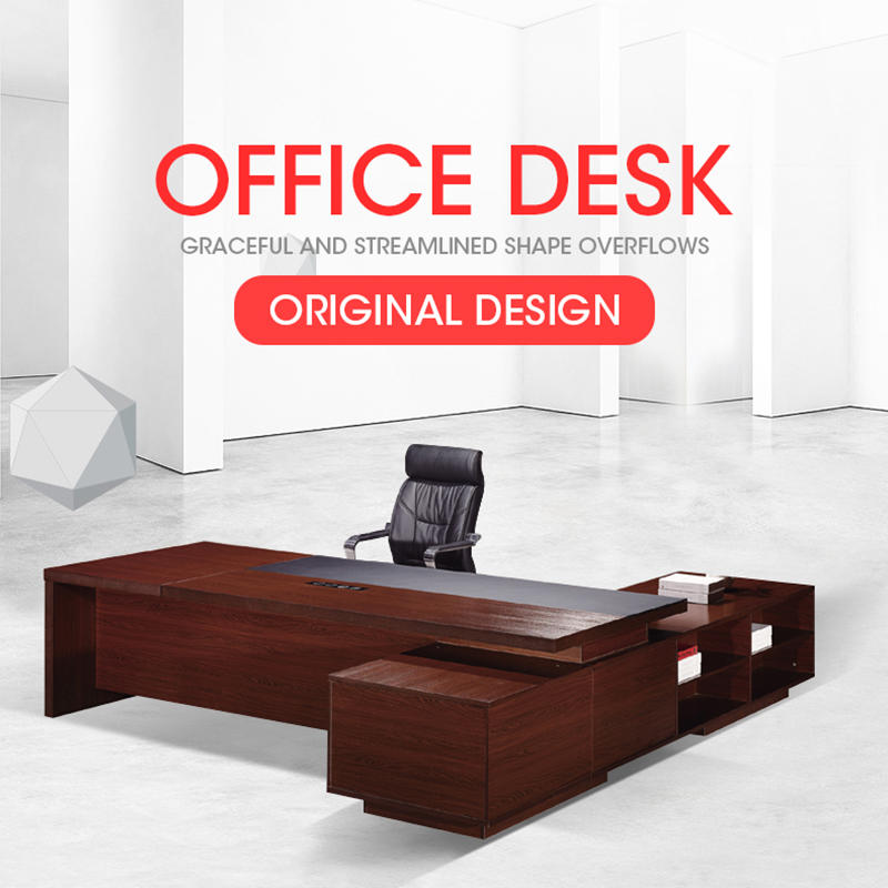 Classic Design Wooden L Shape Director/Manager Office Table DH-102