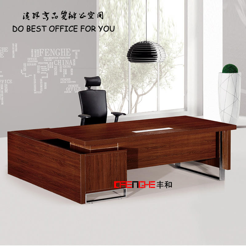 Modern l Shaped Office Desk Melamine Office Table DH-106