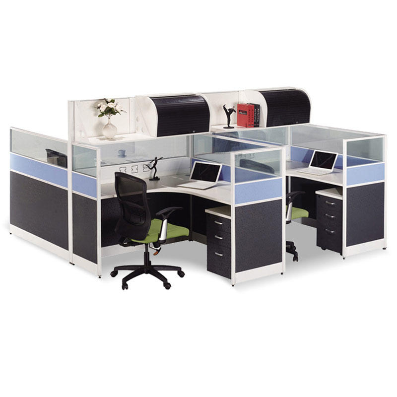 Modern Staff Partition Workstation Office Desk with Hang Cabinet SS-6301