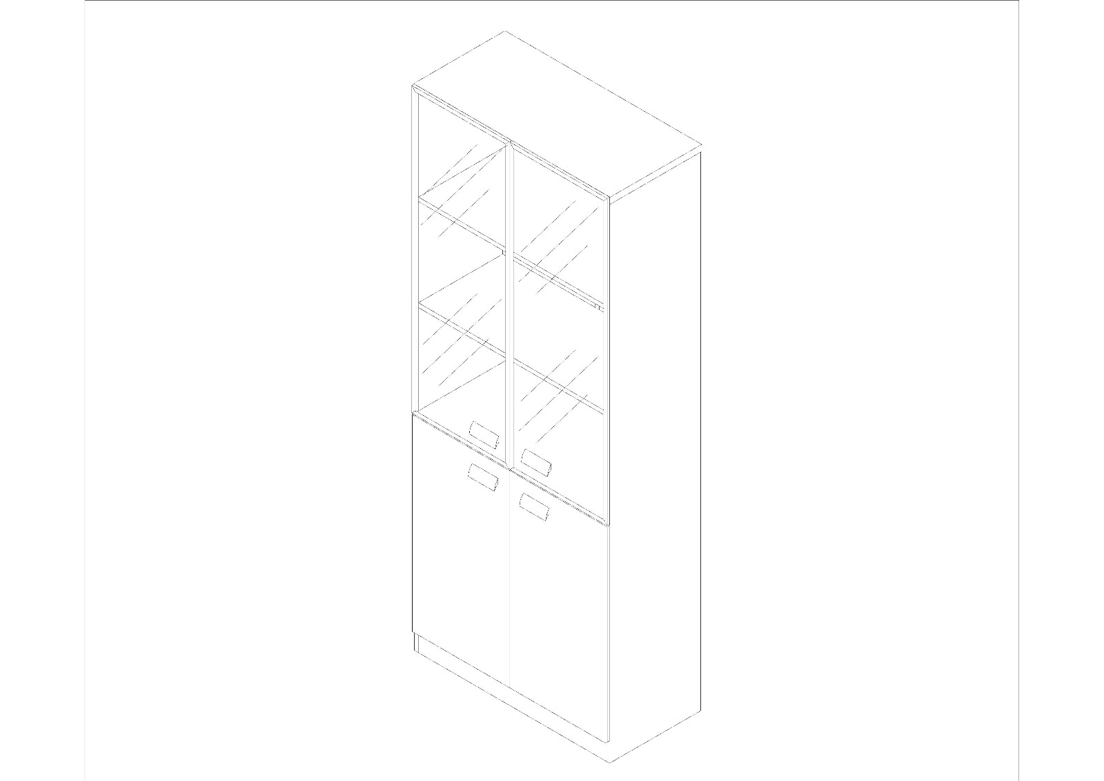 Fenghe-Office cabinets丨Fenghe丨Mdf Wooden Book Shelf Cabinet for office