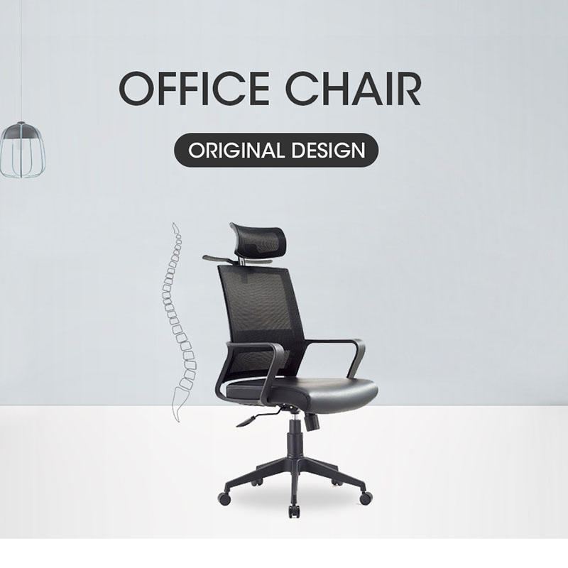 Popular Nylon Base Competitive Price Practical Black Mesh Furniture Office Chair A-729