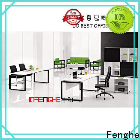 Fenghe decorative executive desk for sale with layer for storage area