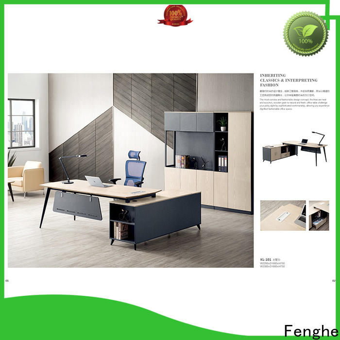 Fenghe high end modern office furniture with layer for storage area